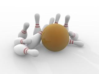 Bowling 3d render