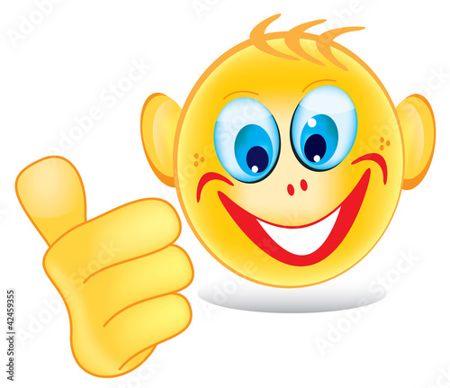 """""""Smiley face showing ok gesture"""" Stock image and royalty ..."""