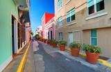 Fototapety San Juan, Puerto Rico Old City Alleyway