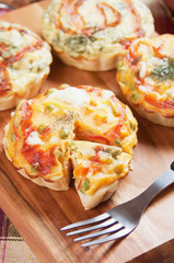 Mini Quiche Lorraine with vegetable