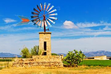 Windmühle auf Mallorca - Wassergewinnung