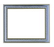Horizontal Silver picture frame on white background