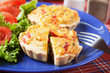 Mini Quiche Lorraine with vegetables