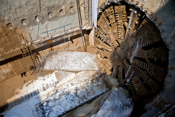 tunnel boring machine underground