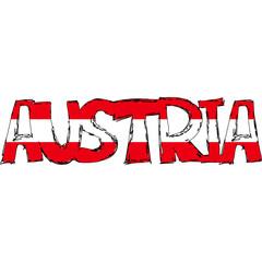 Austria Flag Text