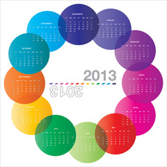 abgerundet Kalender 2013 DE