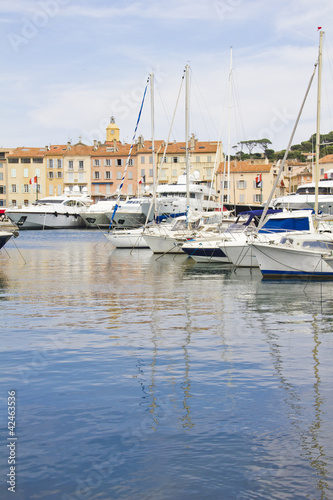 Old port in Saint-Tropez, France