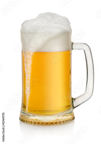 Mug with beer isolated