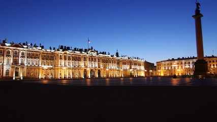 St. Petersburg, Hermitage panorama in White nights