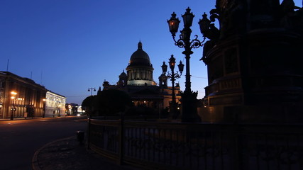Saint-Petersburg, St. Isaac's Cathedral inclusion of lighting