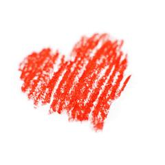 coeur a la craie rouge