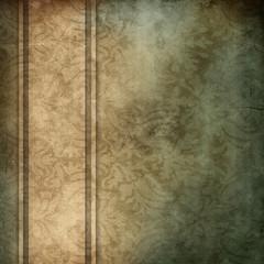 elegant blue and brown background with beige ribbon design layou