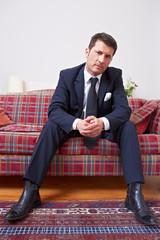 Eleganter Geschäftsmann im Anzug
