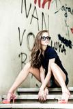 Fototapety sunglasses woman portrait outdoor