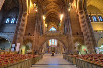 Liverpool Cathedral Interior, UK.