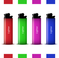 vector colored lighters