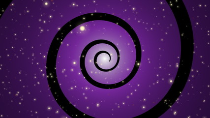 Stars Spiral Loop Purple