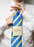 neck tie with post it note