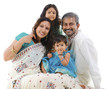 Happy traditional Indian family