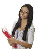 Happy smiling female student