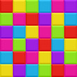Multicolored blocks seamless background pattern. Vector.