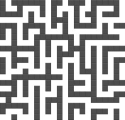 Infinite maze seamless background pattern. Vector.