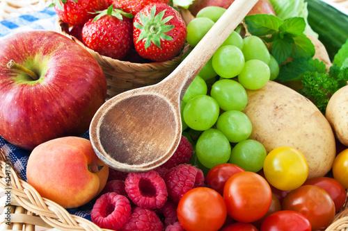 Fototapeten,obst,gemüse,vitamine,essen