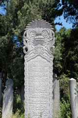 The Ottoman Tombstone in Eyup, Istanbul.