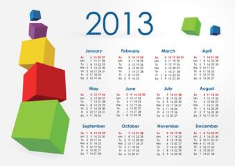 Calendar 2013-cubes
