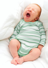 Yawning New Born Baby