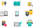 E-book, audiobook and literature icons - 1