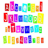 Alphabet multicolore