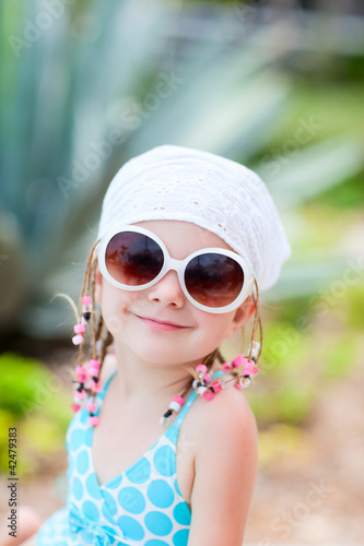 Portrait of adorable little girl