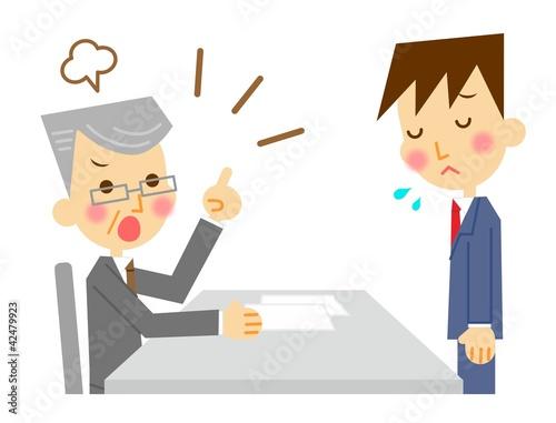 怒られるビジネスマン