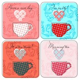 Tea labels set