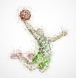 Fototapety Abstract basketball player