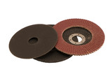 Special angle grinder sander cut discs isolated poster
