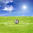 Ball auf dem Feld