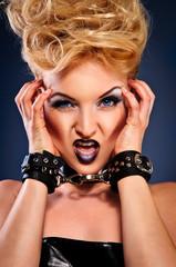 aggressive female portrait