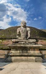 Stone Buddha on Vatadage