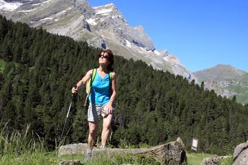Randonnée en montagne à Gavarnie