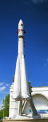 Russian space rocket Vostok at launching platform