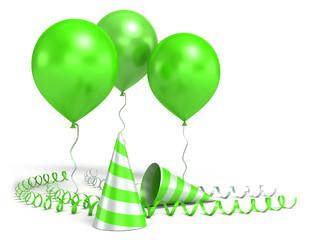 3d shiny ballons