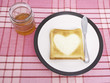Heart Toast and Honey