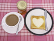 Coffee and Heart Toast