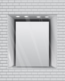 Empty storefront eps10 vector background