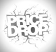 Drop price, sale design template