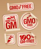 GMO free stickers set poster