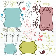 Decorative scrapbook elements set