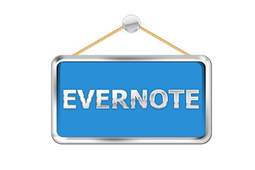 Cartel azul evernote